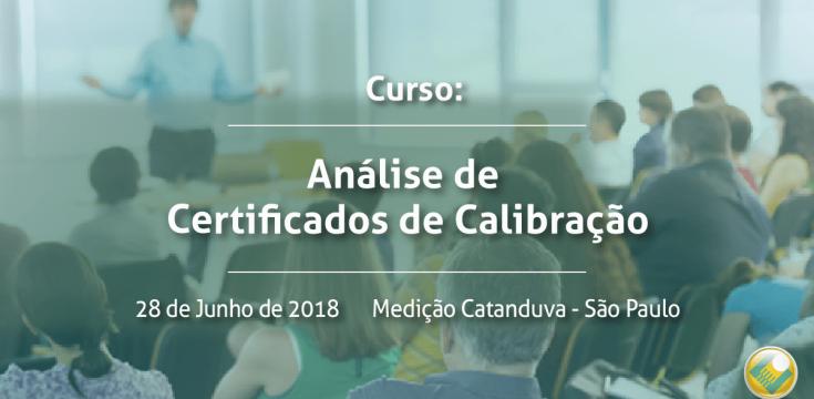 Curso de Análise de Certificados de Calibração | Medição Catanduva