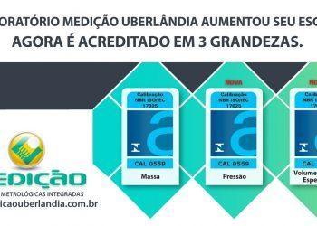 A Medição Uberlândia é acreditada pela Cgcre