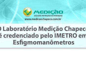 Medição Chapecó  é credenciado pelo IMETRO-SC em Esfigmomanômetros